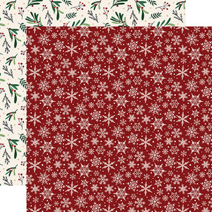 Snowflakes - 12x12 double-sided cardstock from A Cozy Christmas Collection by Echo Park Paper Co.