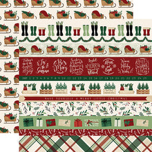 Load image into Gallery viewer, Border Strips - 12x12 double-sided cardstock from A Cozy Christmas Collection by Echo Park Paper Co.