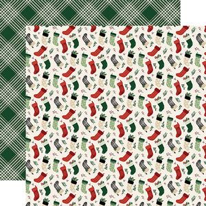 Stockings - 12x12 double-sided cardstock from A Cozy Christmas Collection by Echo Park Paper Co.