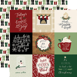 4x4 Journaling Cards - 12x12 double-sided cardstock from A Cozy Christmas Collection by Echo Park Paper Co.