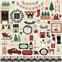 Load image into Gallery viewer, Element Stickers that coordinate with A Cozy Christmas Collection by Echo Park Paper Co.