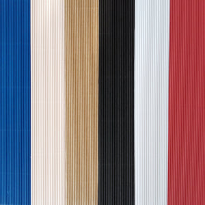 12x12 Corrugated Sheets for paper crafting by DCWV come in six colors