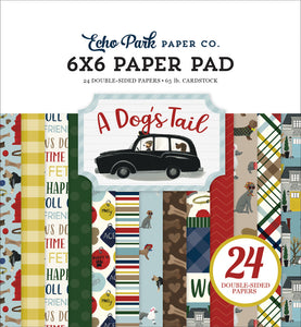 A DOG'S TAIL 6x6 pad with multiple designs about your pet dog.