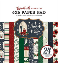Load image into Gallery viewer, 6x6 Pad coordinates with Away in a Manger Christmas Collection from Echo Park Paper Co.