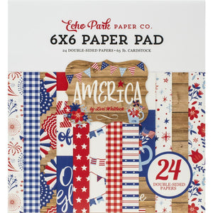 America - 6x6 paper pad with 24 double-sided sheets - Echo Park Paper