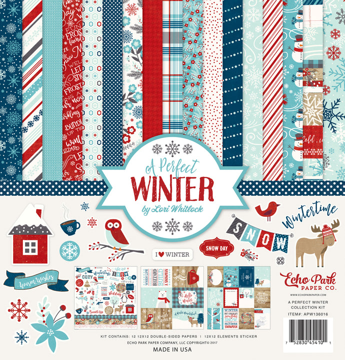 A PERFECT WINTER 12x12 Collection Kit from Echo Park Paper Co.