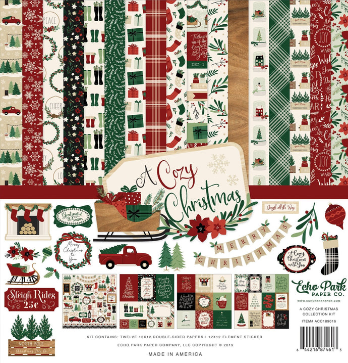 A Cozy Christmas Collection - paper crafting kit from Echo Park