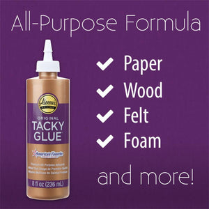 Aleene's Original Tacky Glue can be used on paper, wood, felt, foam and more