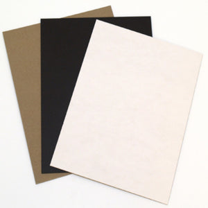 Black, White and Natural Chipboard Assortment Pack - 15 sheets total - Grafix