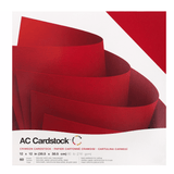 Crimson Color-12x12 textured cardstock-60 pack-American Crafts