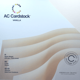 Vanilla Color-12x12 textured cardstock-60 pack-American Crafts