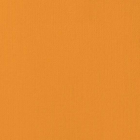 MELON orange cardstock - 12x12 inch - 80 lb - textured scrapbook paper - American Crafts