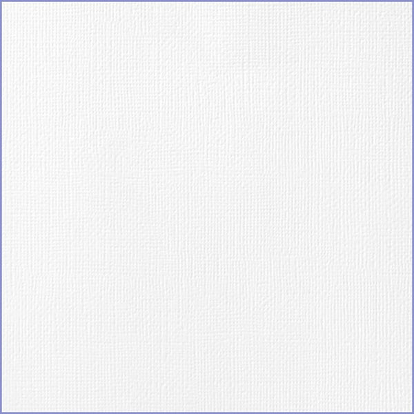 White cardstock - 12x12 inch - 80 lb - textured scrapbook paper - American Crafts