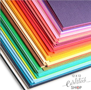 MEGA PACK containing all 102 colors of American Crafts 12x12 Textured Cardstock
