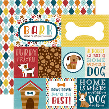 "Load image into Gallery viewer, ""Journaling Cards"" 12x12 double-sided designer cardstock is part of BARK page collection kit by Echo Park Paper Co."