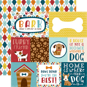 """Journaling Cards"" 12x12 double-sided designer cardstock is part of BARK page collection kit by Echo Park Paper Co."