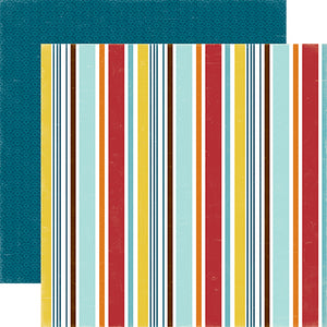 """Puppy Stripe"" 12x12 double-sided designer cardstock is part of BARK page collection kit by Echo Park Paper Co."