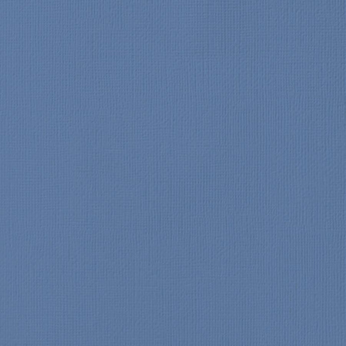 BLUE JAY steel blue cardstock - 12x12 inch - 80 lb - textured scrapbook paper - American Crafts