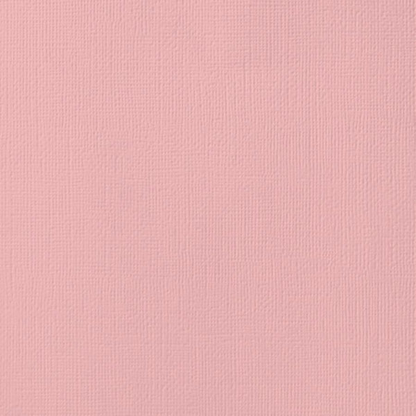 BLUSH pink cardstock - 12x12 inch - 80 lb - textured scrapbook paper - American Crafts