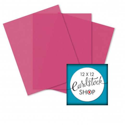 BLUSH pink translucent vellum in 8½ x 11 sheets - Glama Natural