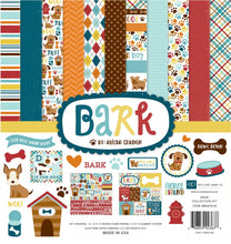 Load image into Gallery viewer, BARK - a dog themed page collection kit to help create memories of your family's loyal friend - by Echo Park Paper Company