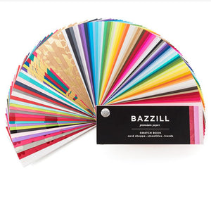 Bazzill Cardstock Swatch Book includes Card Shoppe, Smoothies and Trends lines