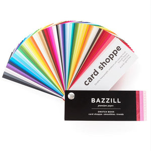 Card Shoppe swatch book by Bazzill