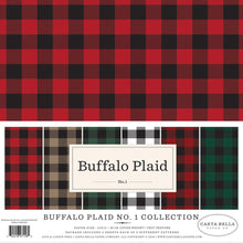 Load image into Gallery viewer, Buffalo Plaid No. 1 Collection of 12 double-sided buffalo plaid colors