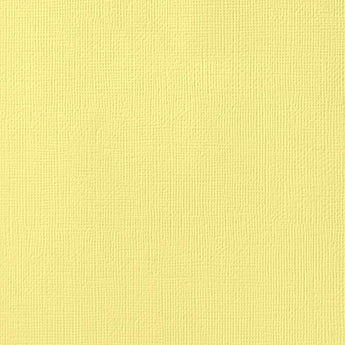 CANARY yellow cardstock - 12x12 inch - 80 lb - textured scrapbook paper - American Crafts