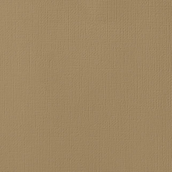 CARAMEL color cardstock - 12x12 inch - 80 lb - textured scrapbook paper - American Crafts