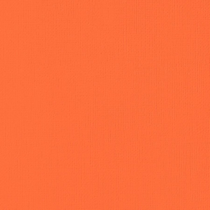 CARROT orange cardstock - 12x12 inch - 80 lb - textured  scrapbook paper - American Crafts