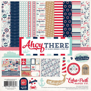 AHOY THERE 12x12 Collection Kit from Carta Bella Paper Company - with Element Sticker Sheet