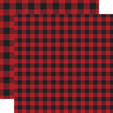 Load image into Gallery viewer, Red Buffalo Plaid from Echo Park Paper Co.