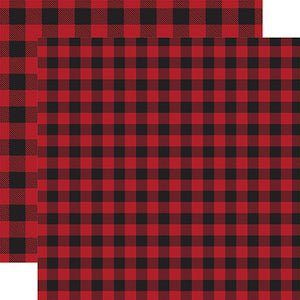 Red Buffalo Plaid from Echo Park Paper Co.
