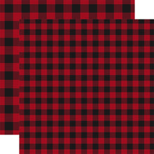 Load image into Gallery viewer, RED Buffalo Plaid 12x12 double-sided cardstock by Carta Bella Paper Co.