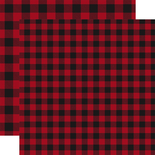 RED Buffalo Plaid 12x12 double-sided cardstock by Carta Bella Paper Co.