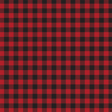 Load image into Gallery viewer, Red Buffalo Plaid Cardstock - front
