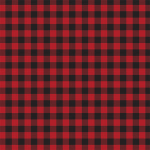 Red Buffalo Plaid Cardstock - front