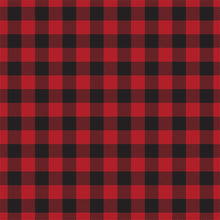 Load image into Gallery viewer, RED Buffalo Plaid 12x12 double-sided cardstock by Carta Bella Paper Co. - reverse side