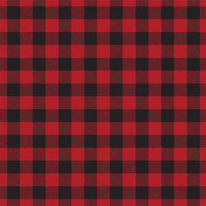 RED Buffalo Plaid 12x12 double-sided cardstock by Carta Bella Paper Co. - reverse side