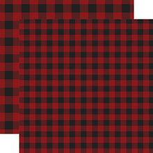 Load image into Gallery viewer, Dark Red Buffalo Plaid from Echo Park Paper Co.