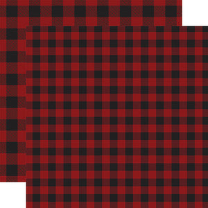 Dark Red Buffalo Plaid from Echo Park Paper Co.