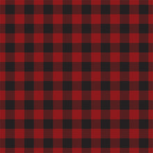 Load image into Gallery viewer, Reverse side of DARK RED BUFFALO PLAID 12x12 cardstock from Carta Bella Paper Co.
