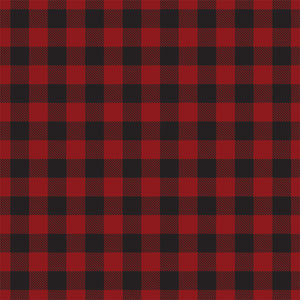Reverse side of DARK RED BUFFALO PLAID 12x12 cardstock from Carta Bella Paper Co.