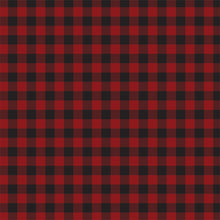 Load image into Gallery viewer, Front side of DARK RED BUFFALO PLAID 12x12 cardstock from Carta Bella Paper Co.