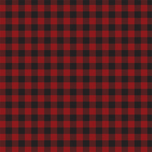 Front side of DARK RED BUFFALO PLAID 12x12 cardstock from Carta Bella Paper Co.