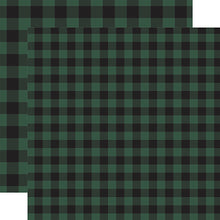 Load image into Gallery viewer, Green Buffalo Plaid from Echo Park Paper Co.