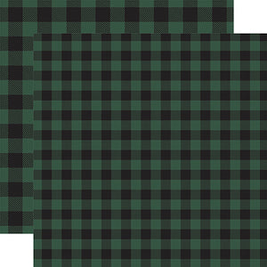 Green Buffalo Plaid from Echo Park Paper Co.