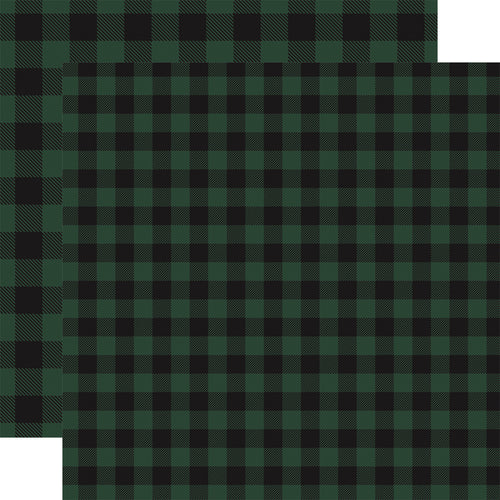 GREEN Buffalo Plaid 12x12 double-sided cardstock from Carta Bella