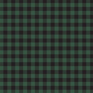 Front side - GREEN Buffalo Plaid 12x12 double-sided cardstock from Carta Bella